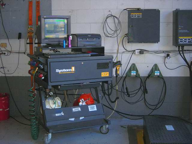 Smog testing equipment at Napa Smog Test Only